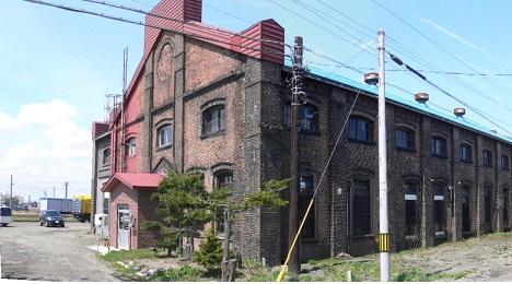 明治末の岩見沢鉄道工場と幾春別川